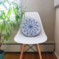 """647 Likes, 16 Comments - Sandra Eng (@mobiusgirl) on Instagram: """"The Rosewheel Cushion pattern is now live on Ravelry and Etsy! To celebrate, I'm offering 15% off…"""""""