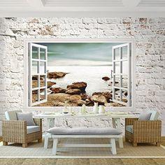 Vintage Apalis Fototapete Strand an der Nordsee Vliestapete Breit Vlies Tapete Wandtapete Wandbild Foto D Fototapete