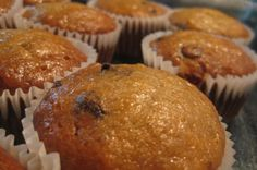 Banana-Chocolate Chip Muffins  WOW! Get this...a very low-fat muffin recipe that actually tastes great!! After failing at many attempts to create a really tasty, low-fat muffin, I came across this recipe, and it is really good...great for dieters!