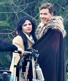 Ginny and Josh on set 11.26.13