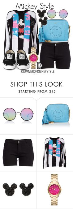 """""""Mickey Style"""" by leslieakay ❤ liked on Polyvore featuring Sunday Somewhere, Anya Hindmarch, Marc Jacobs, Michael Kors, disney, disneybound, disneycharacter and summerofdisneystyle"""