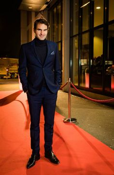 The King of Tennis — Roger Federer on the red carpet at the Musical...