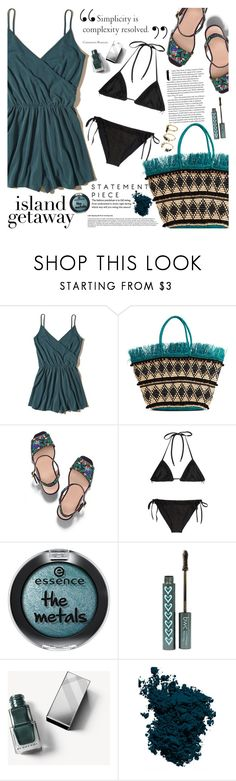 """Chic Island Getaway"" by martinabb ❤ liked on Polyvore featuring Hollister Co., Sensi Studio, Tory Burch, Missoni Mare, Burberry, Laura Mercier and Noir Jewelry"