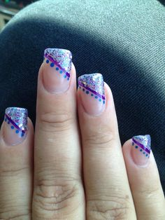 Purple and blue nails