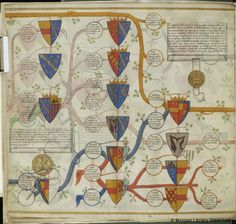 Descents of the houses of Warwick and Essex, MS M.956 fol. 5v - Images from Medieval and Renaissance Manuscripts - The Morgan Library & Museum