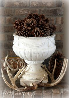 Wild Rose Vintage #pinecones