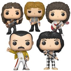 Queen Collectible Handpicked 2018 Funko Pop Rocks Set of 5 Figures Disney Pixar, It Movie 2017 Cast, Queen Poster, Funko Pop Toys, Rock Poster, Queen News, We Will Rock You, Queen Freddie Mercury, Queen Band
