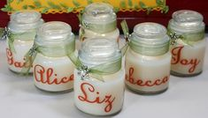 Use your cricut and vinyl to create personalized candles to give to friends and family. Super easy gift idea!!