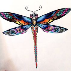 Johanna Basford - Enchanted Forest - dragonfly