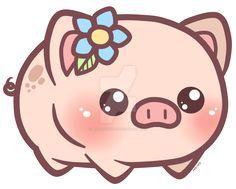Little Piggy_Charm Design by pinkplaidrobot on DeviantArt Cute Kawaii Drawings, Cute Animal Drawings, Cartoon Wallpaper, Cartoon Pics, Cute Cartoon, Kawaii Pig, Miniature Pigs, Pig Drawing, Cute Animal Illustration