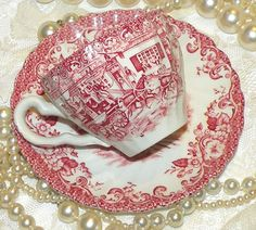 Vintage Cup & Saucer Ironstone Hunting by RosePetalResources