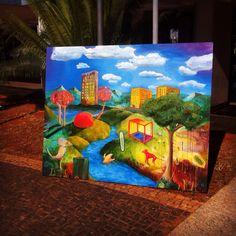 O mundo, 2016 (Paz) 160 x 130 cm Oil, Canvas, Brasil /// patrikmuchenberger.com https://donxt.com/de/campaigns/pm