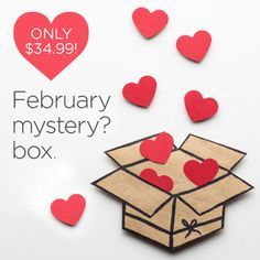 The February 14th mystery box is now available! This box is $34.99 and valued at $103.92. Continue reading below if you want to know what's inside.      	Vinyl Sampler – Basic Brights – 12×24 – 4 pieces  	Cricut Glitter Vinyl – Green – 12×48  	Cricut Iron On – Green – 12×48  	Poster Board Bright – 12×12 – 6 sheets  	Glitter Iron On – Jade  	Cricut Cutting Mat – Purple/StrongGrip – 12×24  	C   #cricutmysterybox #cricutnews