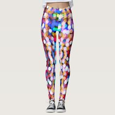 Colorful twinkling lights pattern leggings - tap, personalize, buy right now! #leggings #lights #colorful #happy #christmas #sparkle Girls In Leggings, Women's Leggings, Pattern Leggings, Twinkle Lights, Twinkle Twinkle, Dark Blue, Light Blue, Leggings Fashion, Look Cool