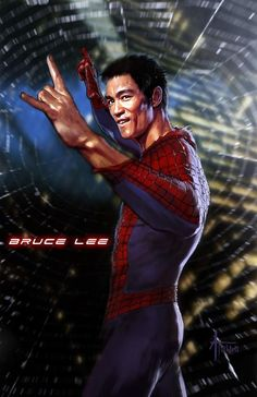 Spiderman bruce lee.