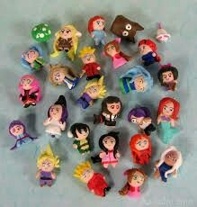 Cute mini polymer clay people  ( they all look quite crazy )