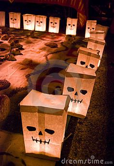 Day of the Dead paper bag lanterns