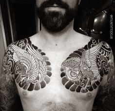Chest Piece, Irezumi, Tribal Tattoos, Brisket, Tattoos, Chest Tattoo, Tattos