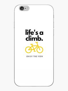 Life is certainly a climb but when you do look up, appreciate the view. • Millions of unique designs by independent artists. Find your thing. cycling, bicycle, enjoytheview, climb, exercise, active, outdoors, view, mountain, climbing, movement, carb, workout, gear, motivation, roadbike, legs, vintage, bmx, rack Mountain Climbing, Looking Up, Workout Gear, Bmx, Cycling, Finding Yourself, Iphone Cases, Bicycle, Outdoors