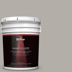 BEHR MARQUEE 5 gal. #T17-09 Laid Back Gray Matte Exterior Paint