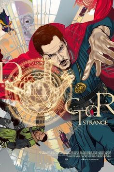 """aseo: """" Doctor Strange tribute work and is a nod to Mike Perkins Last Days of Magic Cover. Part of the Poster Posse Phase drop for the movie """" this is amazing. Doctor Strange is definitely going to be one of the leaders in phase three I can feel it. Marvel Doctor Strange, Doctor Strange Poster, Marvel Dc, Marvel Heroes, Marvel Fight, Ultron Marvel, Poster Marvel, X Men, Captain America"""