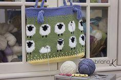 Ravelry: Sheep Lamb Project Bag pattern by Briana K Crochet
