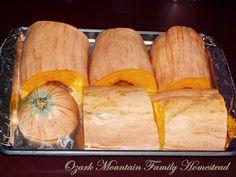 Ozark Mountain Family Homestead: Autumn Pumpkin Pie made with Heirloom Banana Squash Roasted Banana, Baked Banana, Banana Bread, Pumpkin Recipes, Fall Recipes, Thanksgiving Recipes, Squash Pie, Squash Seeds, How To Cook Squash