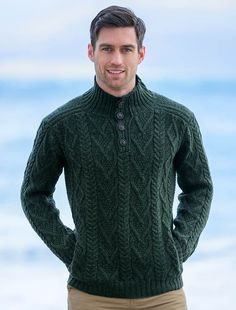 Knitting Patterns Sweaters Wool Sweater for Men, Cable Knit Sweater Men, Irish Sweaters Mens Cable Knit Sweater, Merino Wool Sweater, Wool Sweaters, Irish Sweaters, Mens Knit Sweater Pattern, Knitting Sweaters, Mens Fashion Sweaters, Sweater Fashion, Sweater Outfits