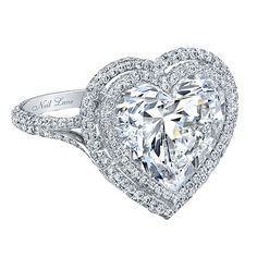 Neil Lane - 8-carat heart-shaped diamond in platinum...
