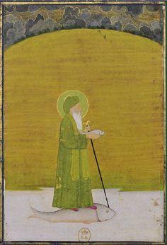 The prophet Khizr Khan Khwaja ca. 1760 Bibliothèque nationale de France, Paris