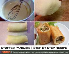 Stuffed Pancakes Step By Step Recipe is very delicious and easy to cook at home, it is prepared by using healthy and easy to available ingredients, simple method make this recipe more tasty.
