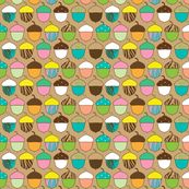Woodland Accorns - joannepaynterdesign - Spoonflower