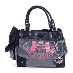 Juicy Couture Old School Daydreamer Purse Tote Bag Gray --- http://www.amazon.com/Juicy-Couture-School-Daydreamer-Purse/dp/B0091MZE2W/ref=sr_1_6/?tag=telexintertel-20