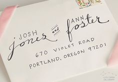Hand Addressed Calligraphy Envelope in by LilDipperCalligraphy, $2.00