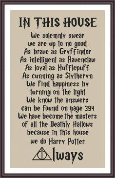 Funny Cross Stitch Pattern Do Harry Potter ALWAYS | Craftsy