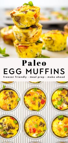 Easy Egg Breakfast Muffins - Healthy, TASTY, and perfect for those busy mornings when you need a quick breakfast. These Paleo egg muffins are great for meal prep, make ahead, and are freezer friendly. Kid approved too! Paleo Egg Muffins, Healthy Breakfast Muffins, Whole 30 Breakfast, Whole30 Breakfast Ideas, Breakfast Meals, Paleo Recipes Easy, Clean Eating Recipes, Healthy Dinner Recipes, Whole30 Recipes