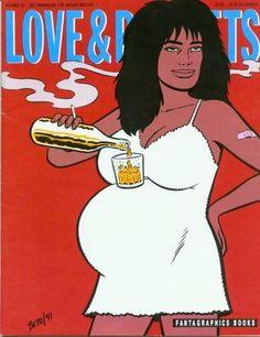 Issue 36 cover art Gilbert Hernandez