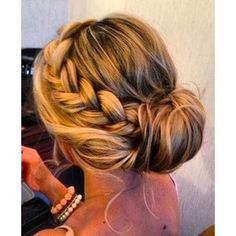 perfect side braid into bun Hair styles.