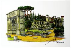 Arch of Constantine - Markers - 20X30cm - 2012