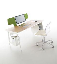 Nouvelle Vague office system by Emmanuel Gallina for Clen System Furniture, Office Furniture, Design Desk, Privacy Walls, Sheet Metal, Innovation Design, Office Ideas, Kids Room, Tables