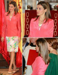 MYROYALS &HOLLYWOOD FASHİON:  Crown Princess Letizia attended the Prince de Viana award 2014 at the San Salvador de Leyre Monastery in Navarra, June 4, 2014