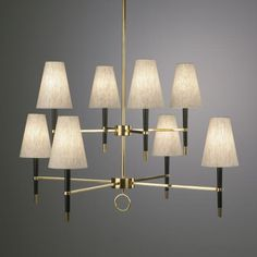Ventana 2 tier Chandelier - i would put pale pink silk shades on this and drop it in a girlie bathroom/dressing room  by jonathan adler