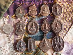 Vintage Thai Buddhist Medallion Coin Amulet Medal