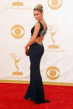 2013 Emmys Red Carpet Fashion - Katrina Bowden is POSED and POISED and POLISHED and PERFECT. A PLUS.