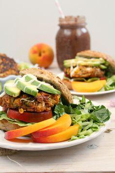 Rainbow Veggie Burgers by jaxcocoaustralia #Burgers #Veggie
