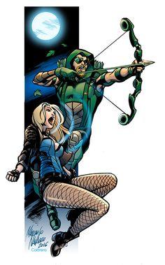 Verde y Negro - The Green And The Black by PortalComic on DeviantArt Arrow Comic, Arrow Dc Comics, Dc Rebirth, Green Arow, Arrow Black Canary, Dinah Laurel Lance, Lance Black, Super Hero Outfits, Marvel Wallpaper