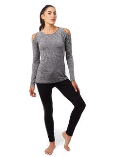 KEATON COLD SHOULDER - from @nuxactive Fitness Fashion, Cold Shoulder, Blouse, Long Sleeve, Sleeves, Outfits, Tops, Women, Suits