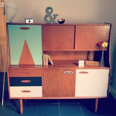 SOLD Unique Jentique mid century modern upcycled by DippedAndDrawn
