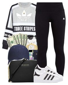 """Untitled #928"" by trinsowavy ❤ liked on Polyvore featuring adidas Originals, MICHAEL Michael Kors, adidas and Lipsy"