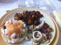 Sea food from Jonio sea